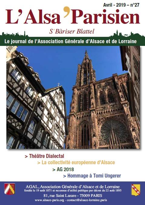 Journal Alsa'Parisien N°27 de Avril 2019