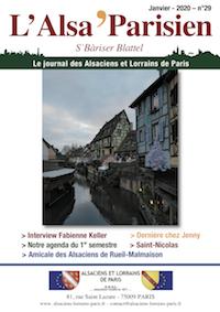 Couverture de l'Alsa'Parisien numéro 29 de janvier 2020