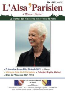 Couverture de l'ALSA'PARISIEN numéro 32